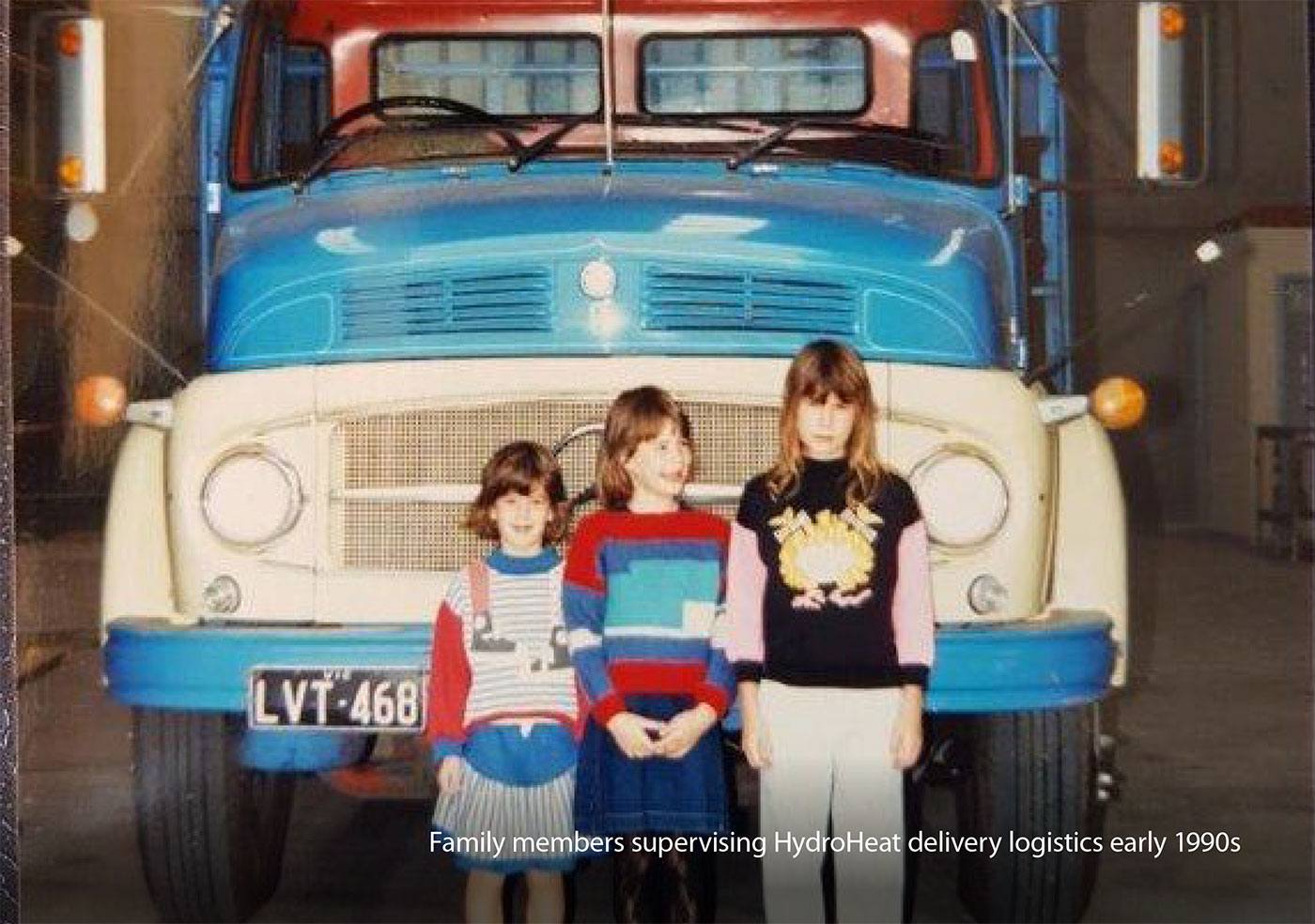 Family members supervising HydroHeat delivery logistics ealy 1990s